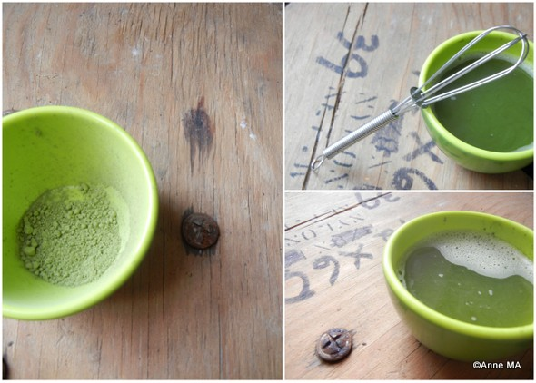 préparation latté thé matcha | Blog Montreal Addicts