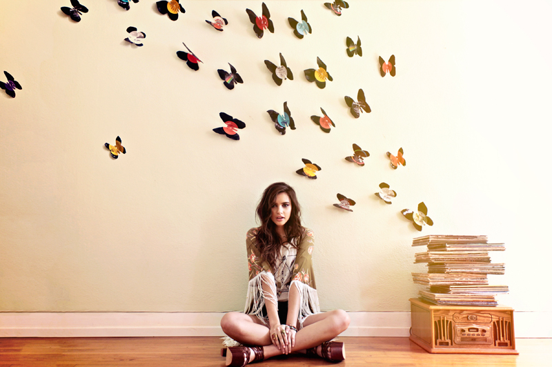 DIY_vinyl_record_wall_art _butterflies