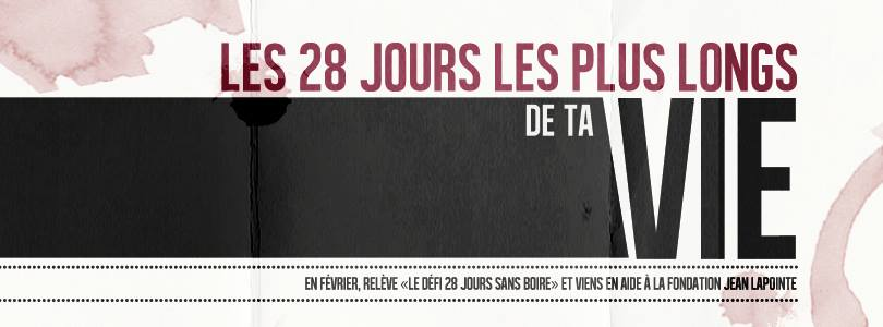 Défi 28 jours de la fondation Jean Lapointe | Blog Montreal Addicts