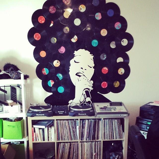 Diy une d coration de dingue avec des vinyles montreal addicts montreal - Deco avec des photos ...