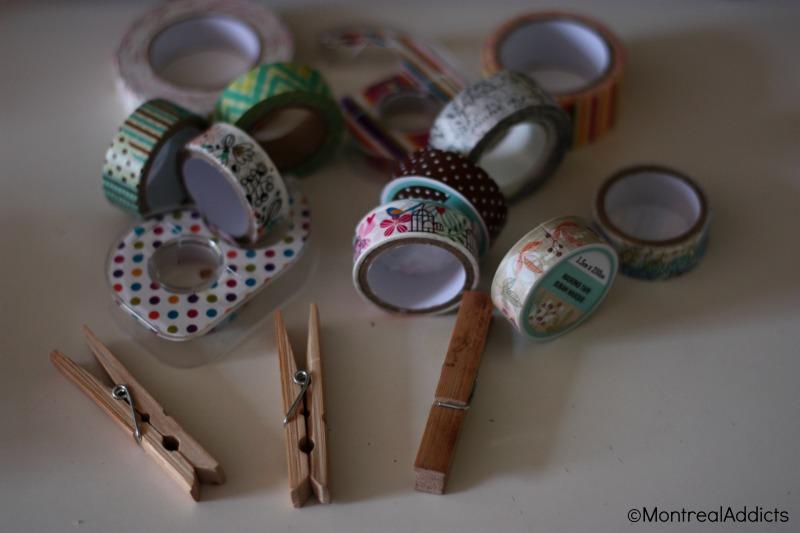 DIY spécial rentrée washi tape dollarama blog montreal addicts 2