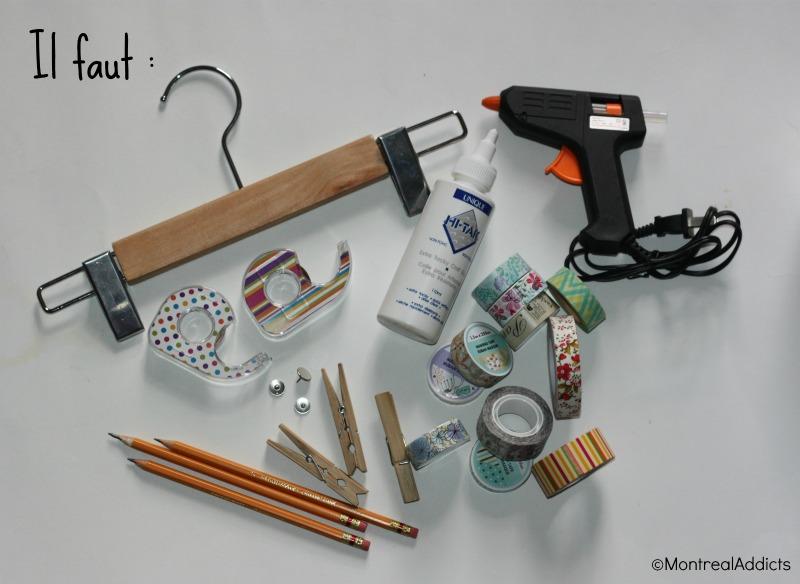 DIY spécial rentrée washi tape dollarama blog montreal addicts