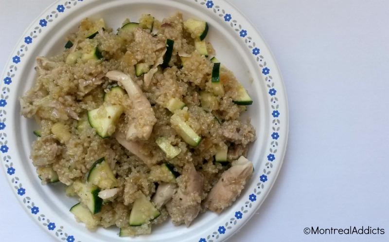 salade quinoa, poulet, citron, courgette Blog Montreal Addicts