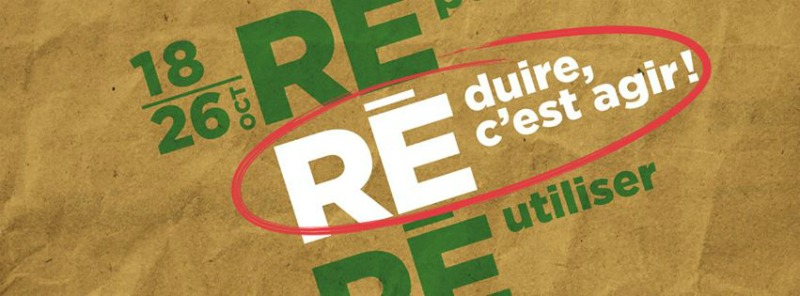 Semaine québécoise de réductions des déchets