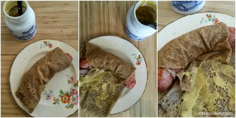 Chez Milo et Fine crêperie bretonne galette saucisse - Blog Montreal Addicts 3