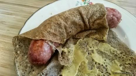 Chez Milo et Fine crêperie bretonne galette saucisse - Blog Montreal Addicts 5