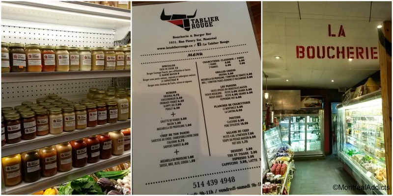 La Tablier rouge - charcuterie resto - rue Fleury - blog Montreal Addicts
