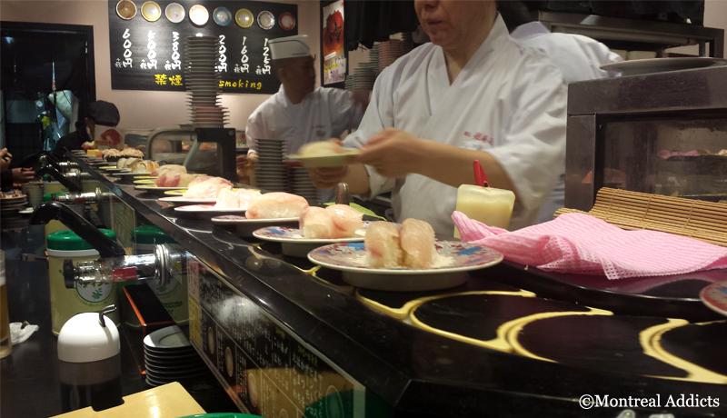 Kaiten sushi Akihabara Tokyo | Blog Montreal Addicts