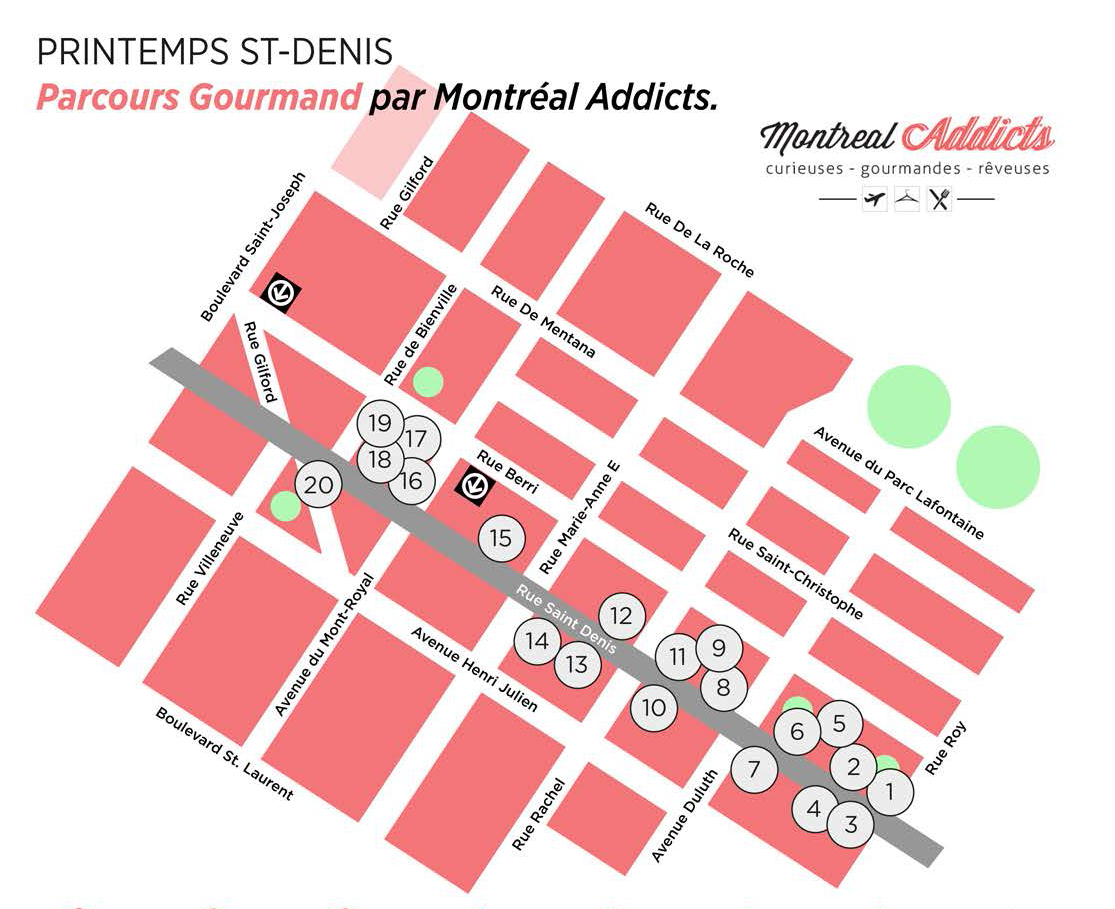 Parcours Gourmand Printemps St-Denis | Blog Montreal Addicts