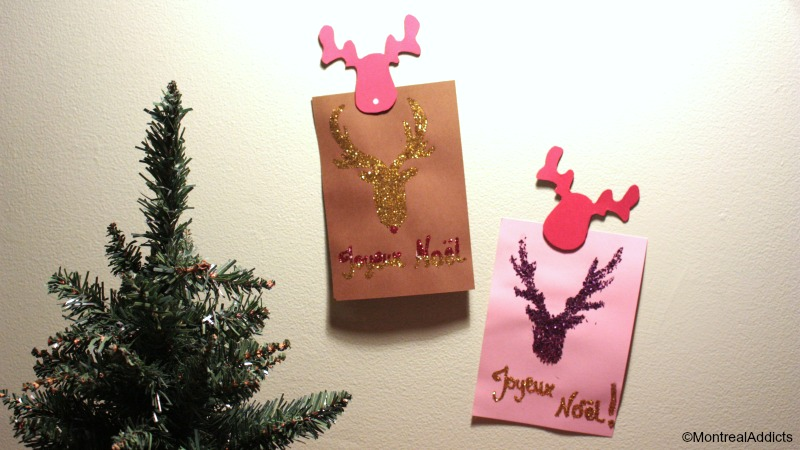 DIY faciles Noël - cartes de Noël et magnets- Blog Montreal Addicts