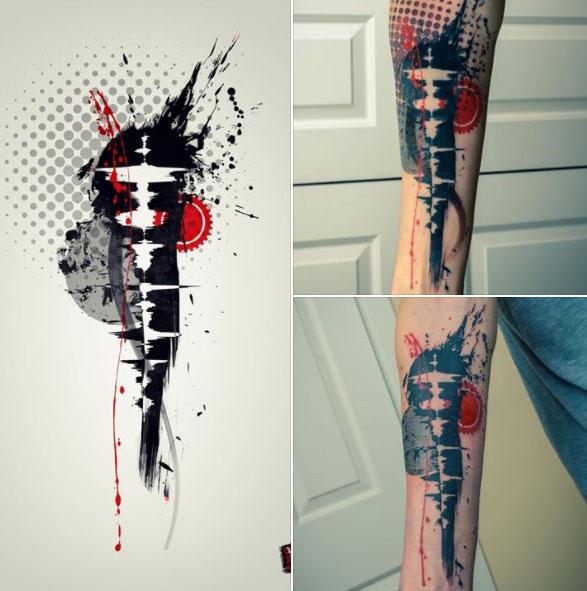 Remi is melting dots tattoo