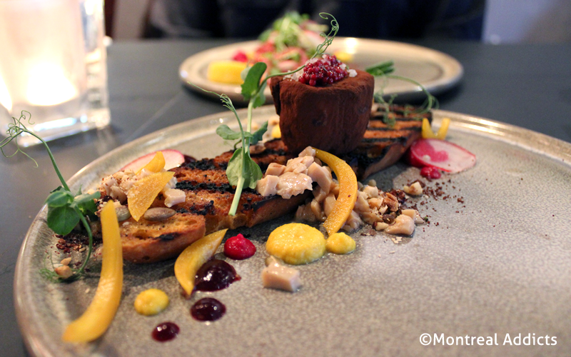 Foie gras au cacao au Caribou Gourmand | Blog Montreal Addicts