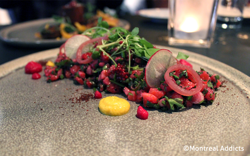 Tartare de truite au Caribou Gourmand | Blog Montreal Addicts