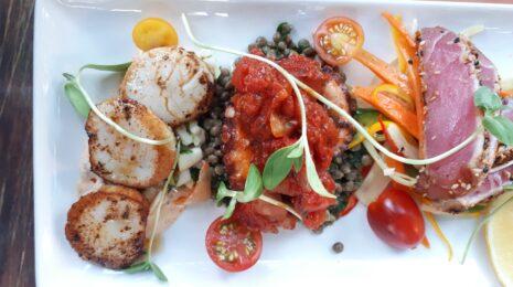 assiette de la mer Bagatelle bistro apportez votre vin meilleur resto Hochelaga