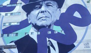 Murale Leonard Cohen Plateau Mont-Royal