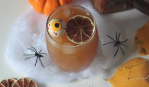 cocktail halloween citrouille et mangue épicée