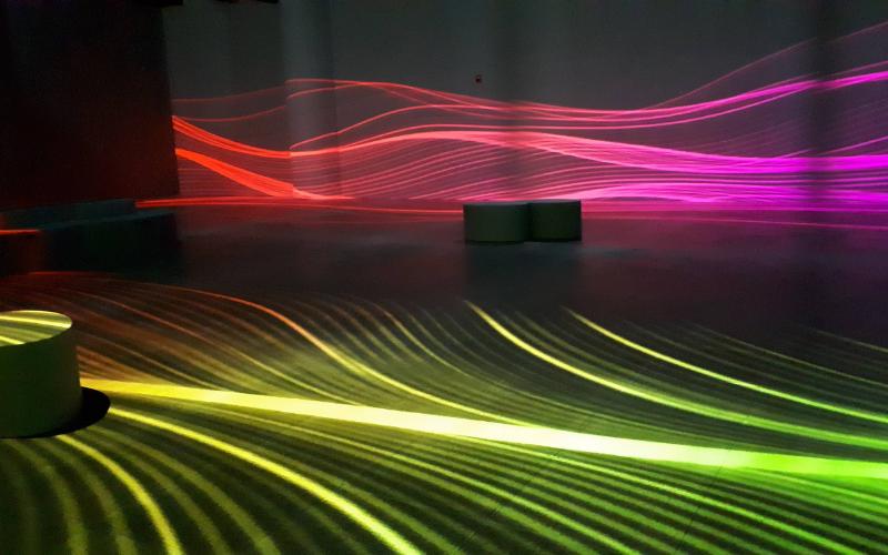 lignes colorées exposition Inspiration