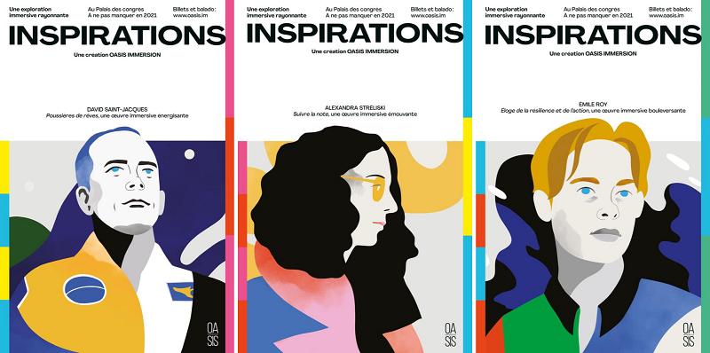 Inspirations québécoises pour exposition Inspirations