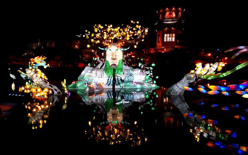 Jardin de lumière, lanternes Jardin de Chine